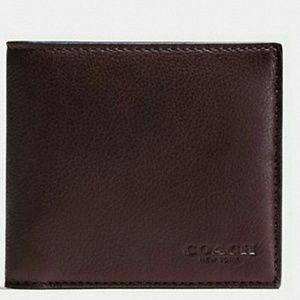 🔵Coach Men's Leather Double Billfold Wallet🔵🔵
